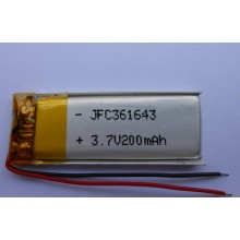 Hot sale JFC361643 200mAh 3.7v lipo battery for digital devices