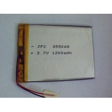 3.7V rechargeable shenzhen lithium battery JFC355068 1200mAh