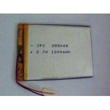 3.7V rechargeable shenzhen lithium battery JFC355068 1200mAh