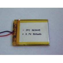 JFC363445 Li-Ion 3.7V 500mAh Rechargeable Battery
