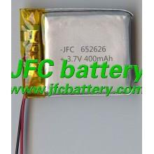 Battery for smart watch 652626 3.7V 400mAh