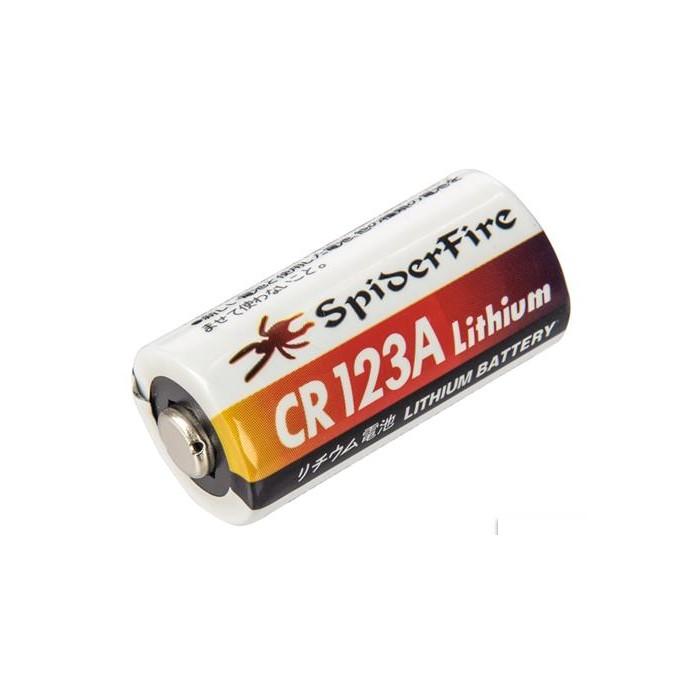 SpiderFIre CR123A High Performance 3V 1300mAH Lithium Battery