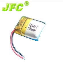 601417 3.7V 100mAh LiPo Rechargeable Battery Lithium Polymer li ion For Mp3 Mp4 Mp5 PAD DVD E-book bluetooth headset headphone