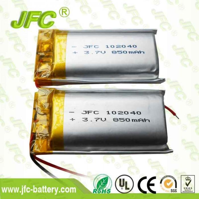 Medical product battery JFC102040 3.7V 850mAh