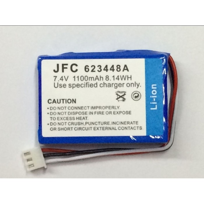 JFC 623448 7.4V 1100mAh Portable printer battery, Bluetooth Mobile Printer battery