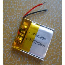 polymer li ion battery JFC 402023 125mAh ,lithium polymer cell