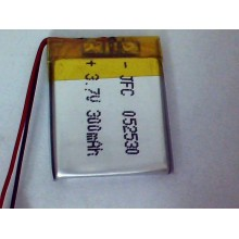 502530 3.7V 300mah Polymer Lithium Li-Po Rechargeable Battery