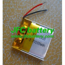 ultra thin lithium polymer rechargeable JFC402020 100mAh, li-ion lipo battery JFC042020 3.7v 100mah