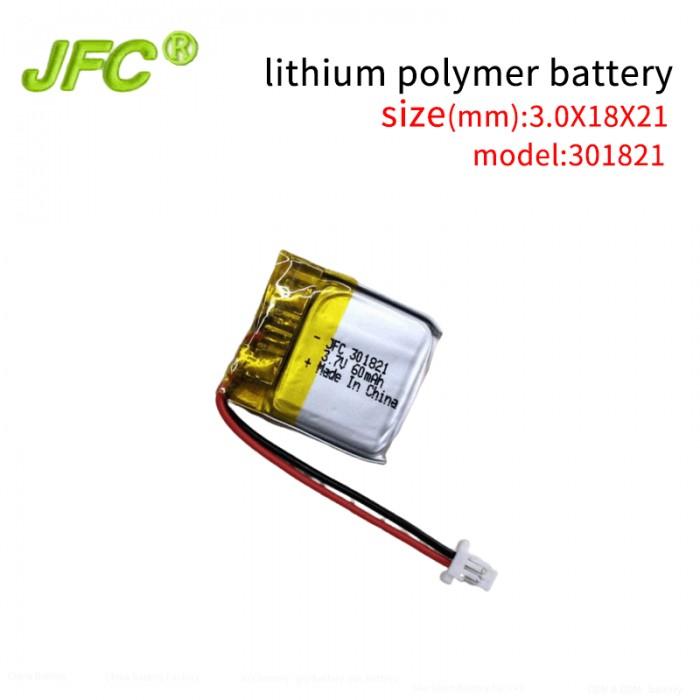 Soft battery JFC301821 60mAh 3.7V