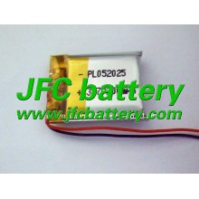 Li-polymer 3.7V 502025 200mAh Rechargeable Lipo Bluetooth Battery