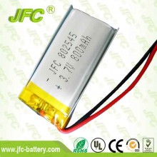 jfc 802545 3.7V 800mAh  High Density Capacity Lithium Polymer Battery