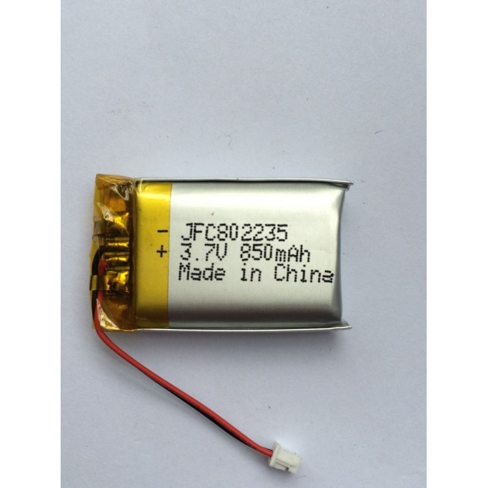 JFC 802235 3.7v 850mAh rechargeable li polymer battery cell