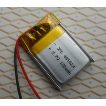 3.7v 120mah lithium li polymer battery small 3.7v rechargeable lipo battery 120mah jfc 481624