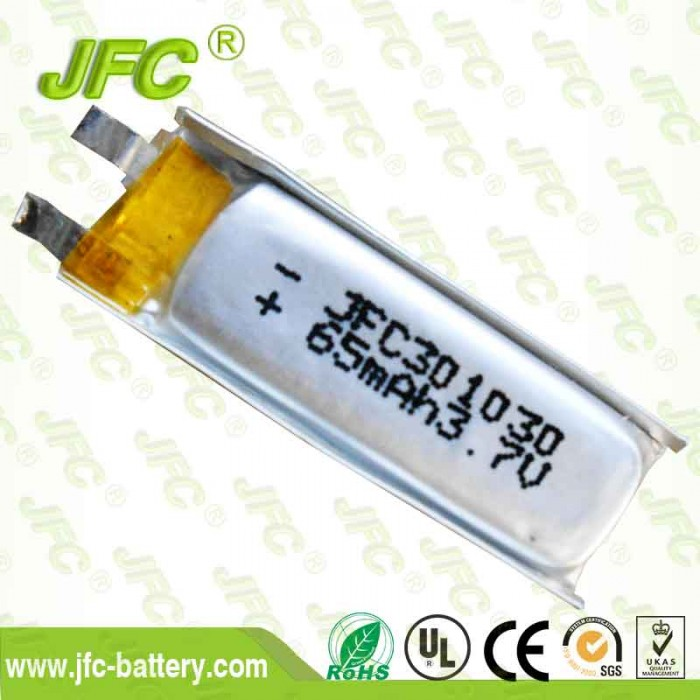 Bluetooth  battery JFC301030 3.7V 60mAh