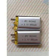 Rechargeable 3.7V 850mAh jfc 802442 Lithium Li-ion Lipo Battery Pack for Aircraft Toys