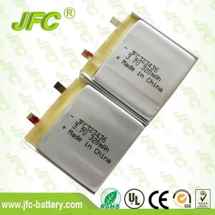 Audio battery JFC323436 3.7V 320mAh/Polymer battery