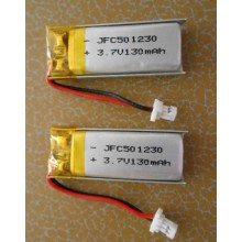 Lithium Ion Polymer Battery Pack 3.7V 130mAh JFC501230